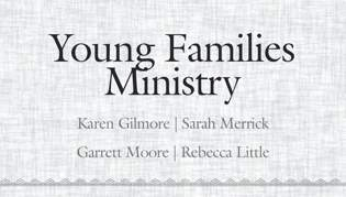 Young Families Ministry